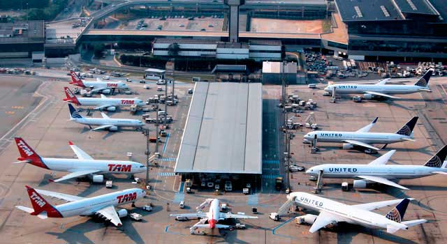 Sao Paulo Airport (IATA: GRU) is the busiest airport in Brazil.